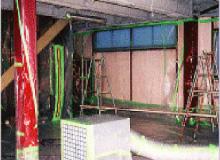 負圧除塵装置の設置