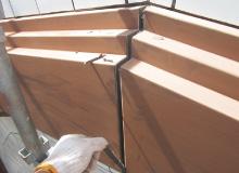 シ-リング劣化による幕板の雨漏り